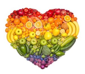 fruit and veg heart