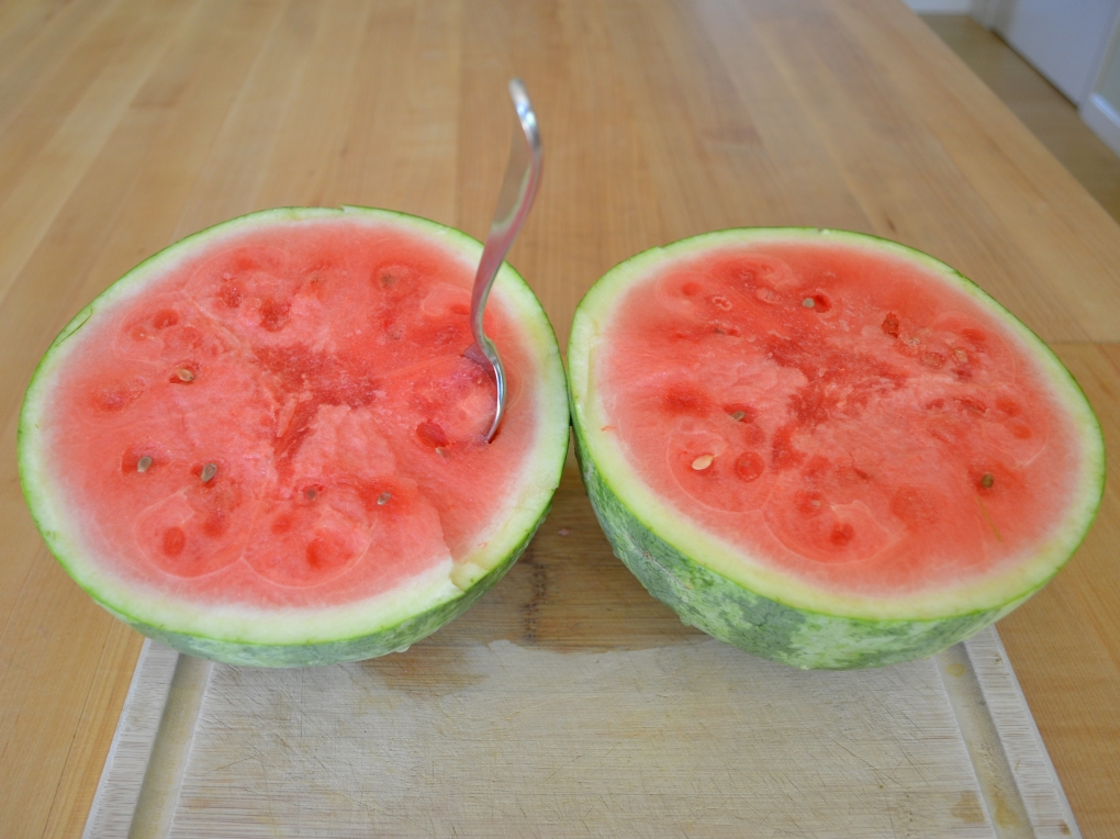 His and hers watermelons